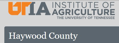 Haywood County Ag. Extension Services Logo